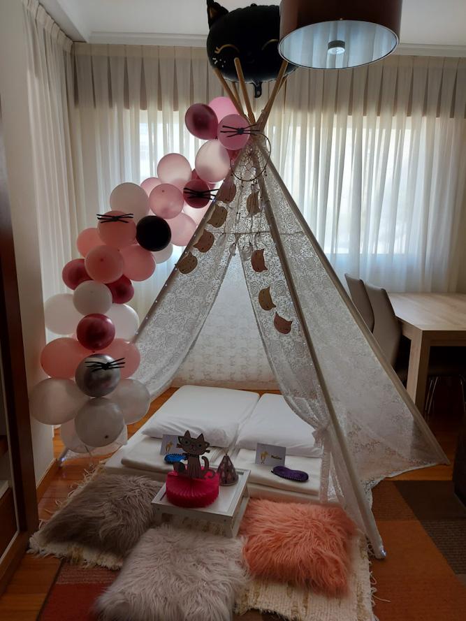 Fiesta de pijamas gatuna, 12º Cumpleaños de Martina en Vigo