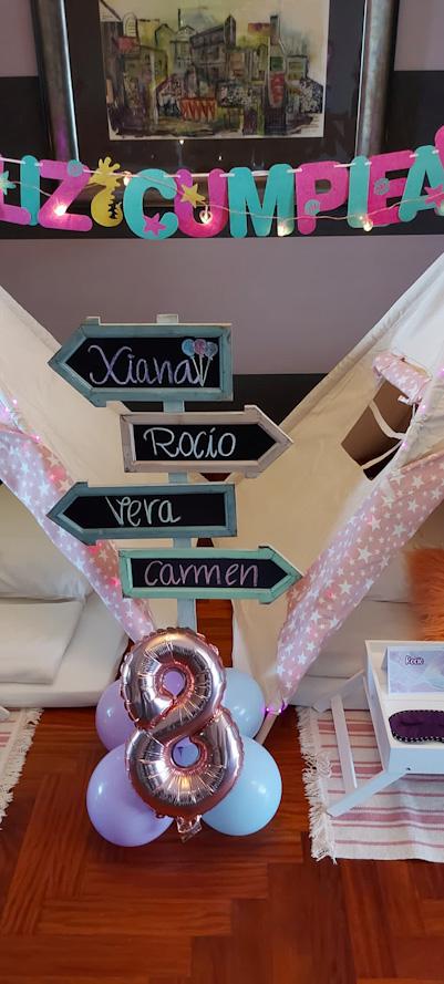 Debajo del mar, Cumpleaños infantil de Sirenas en Vigo para Xiana