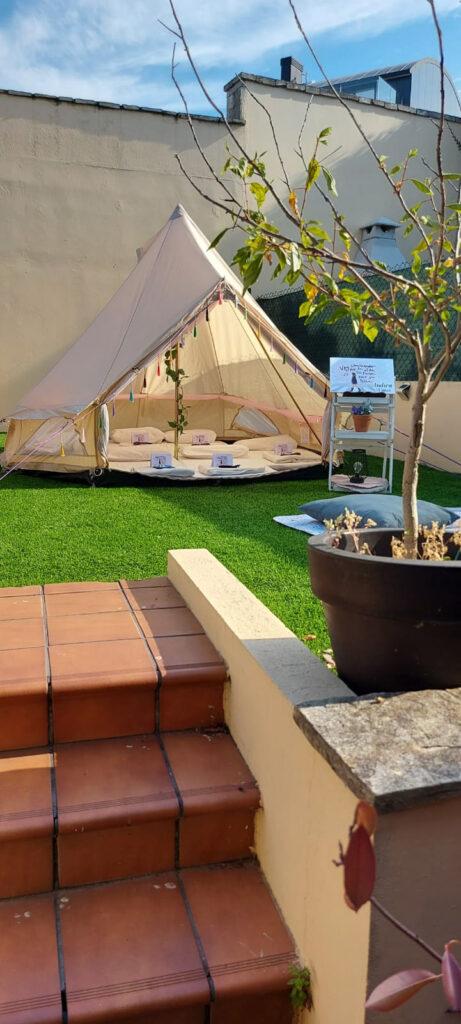 Zona de acampada en casa, Fiesta de pijamas en Vigo para Indira en su 13 Cumpleaños