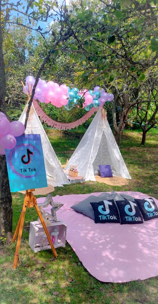 Decoración de la Comunión de Nerea, Fiesta Tipi TIK TOK Star
